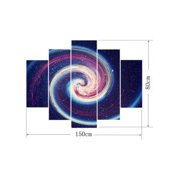 Spiral Starry Sky Printed Unframed Wall Art Paintings - multicolor 1PC:12*31,2PCS:12*16,2PCS:12*24 INCH( NO FRAME )