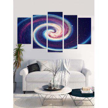 Spiral Starry Sky Printed Unframed Wall Art Paintings - multicolor 1PC:8*20,2PCS:8*12,2PCS:8*16 INCH( NO FRAME )