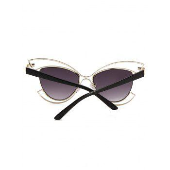 Anti Fatigue Metal Hollow Out Frame Novelty Sunglasses - VAMPIRE GRAY