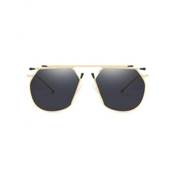 Stylish Top Bar Alloy Sun Shades Sunglasses - BLACK