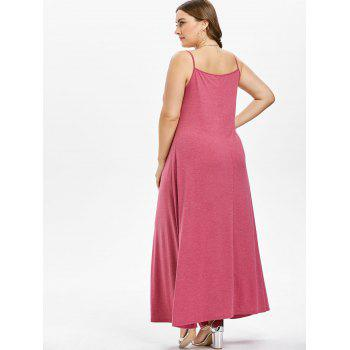 Plus Size Maxi A Line Dress - WATERMELON PINK 5X
