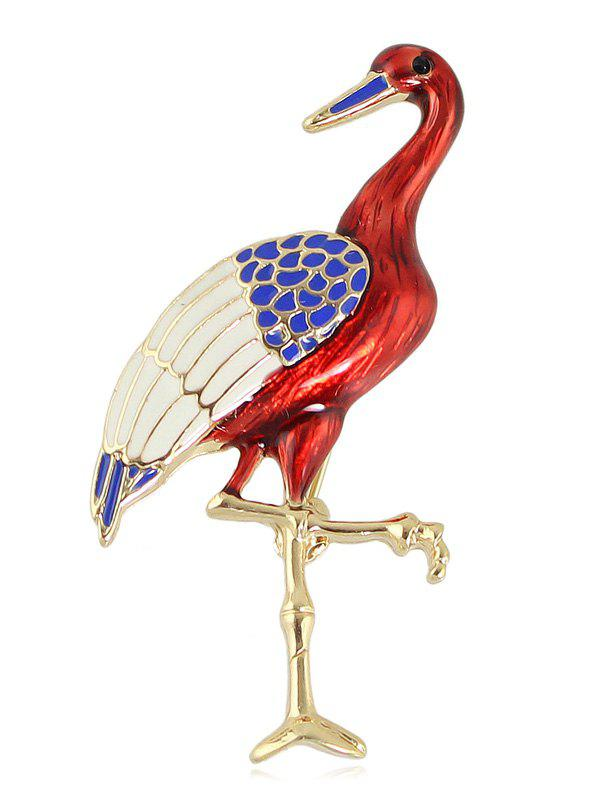 Bird Shape Clothes Accessory Brooch - RED