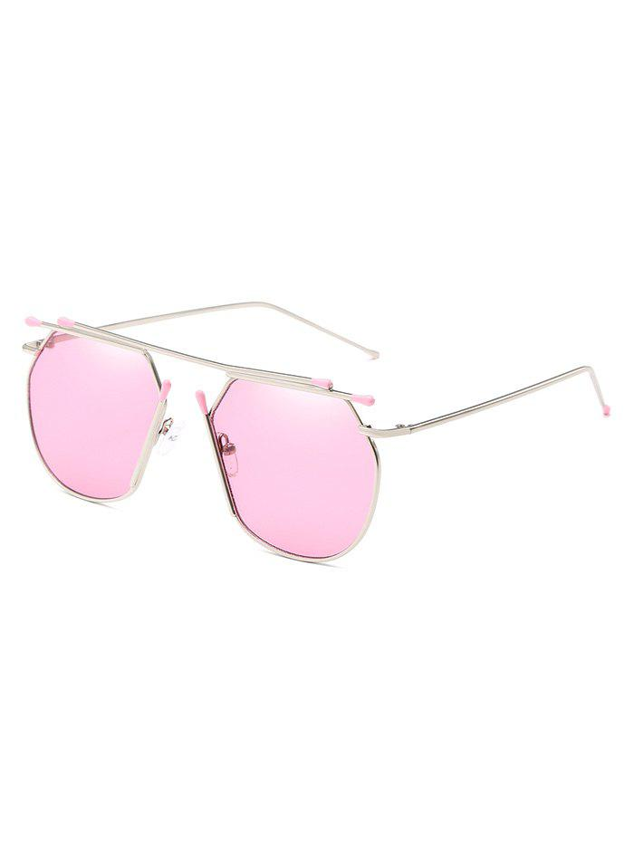 Stylish Top Bar Alloy Sun Shades Sunglasses - PIG PINK