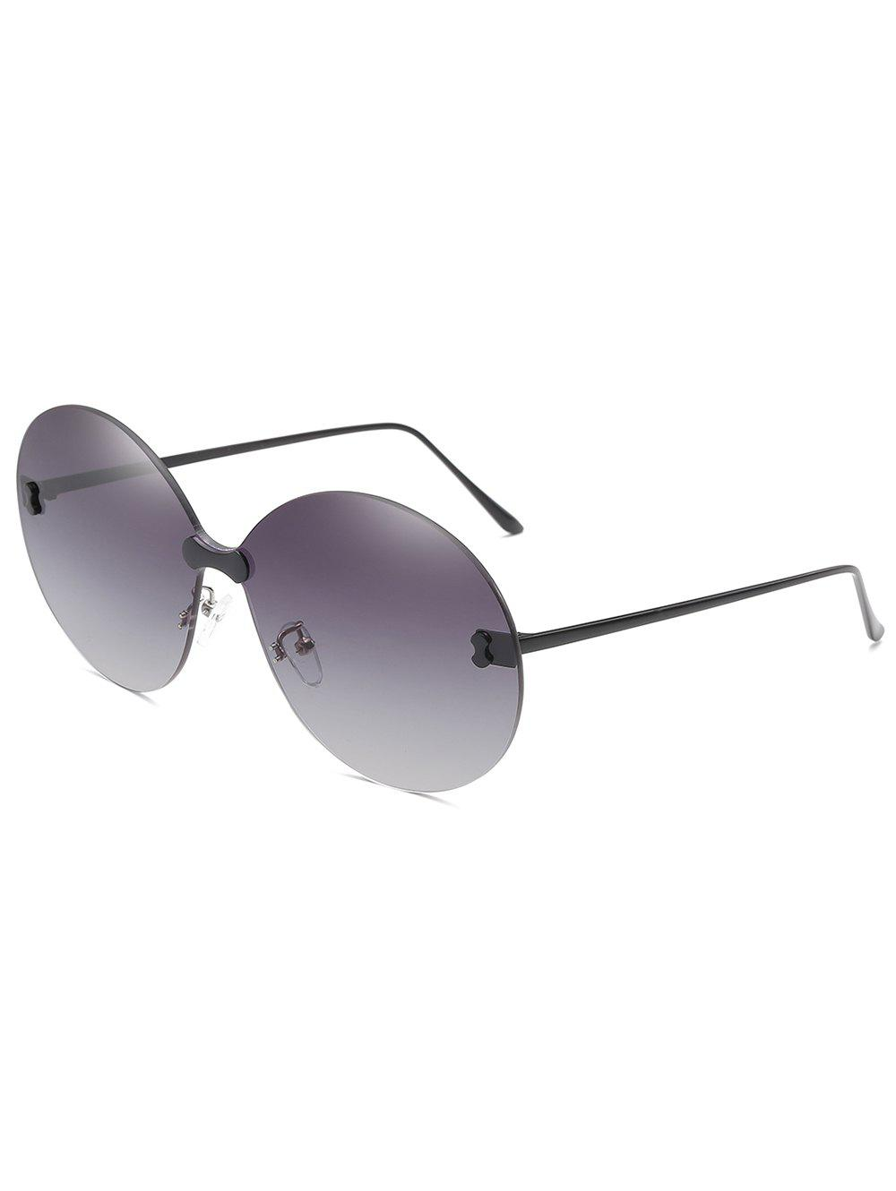 Anti Fatigue Rimless Travel Driving Sunglasses - JET GRAY
