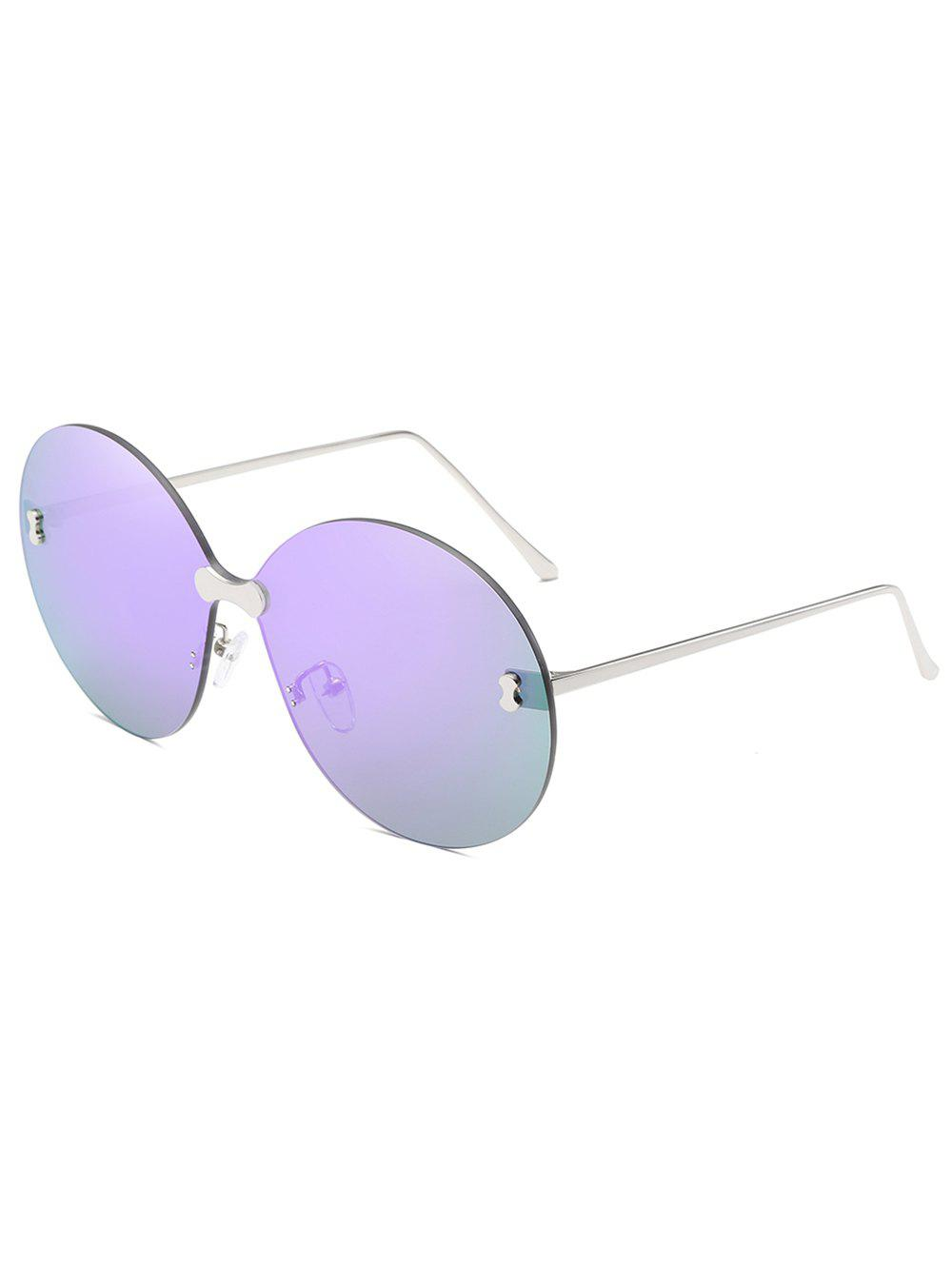 Anti Fatigue Rimless Travel Driving Sunglasses - LILAC