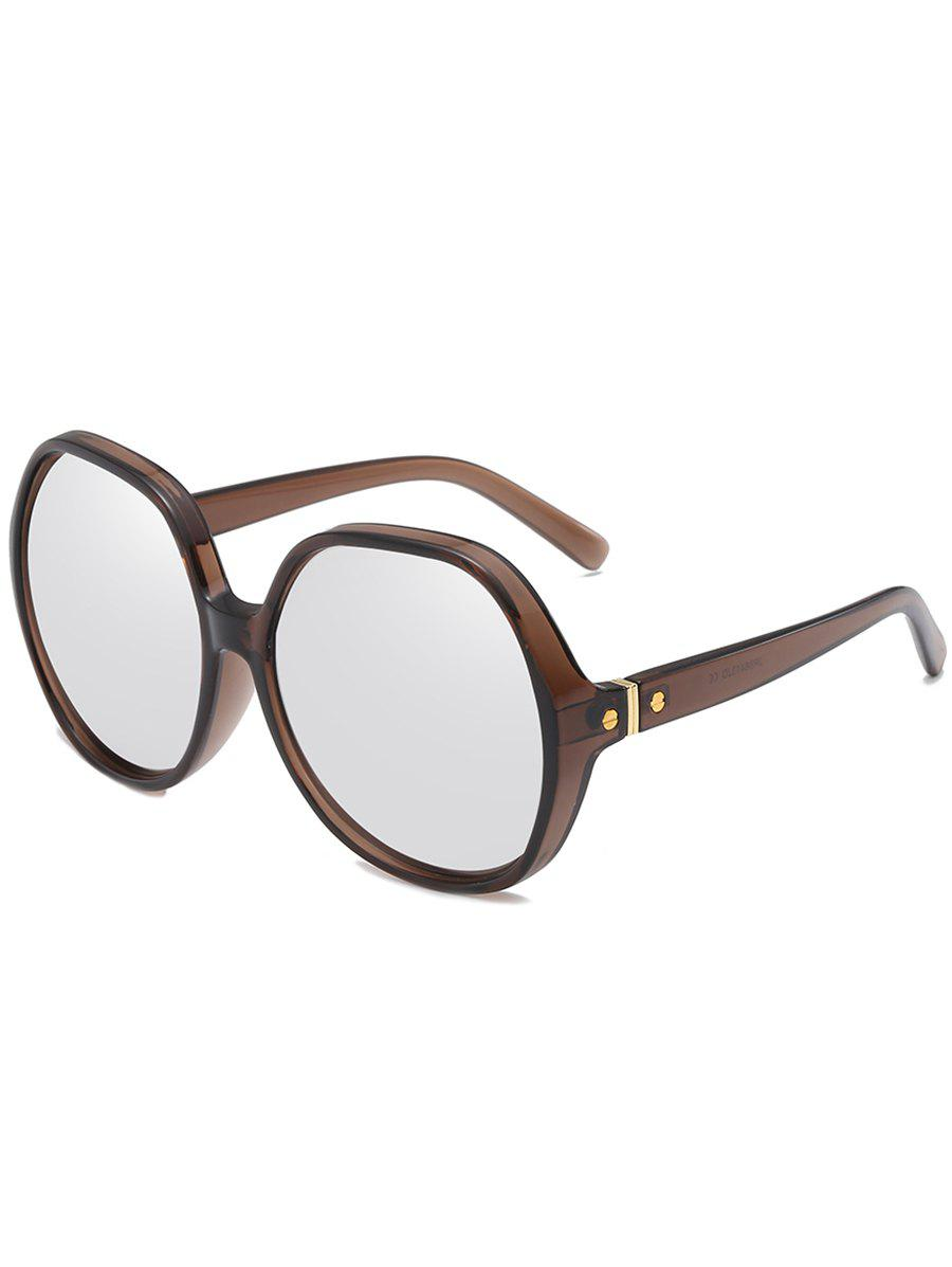 Vintage Full Frame Travel Oversized Sunglasses - PLATINUM