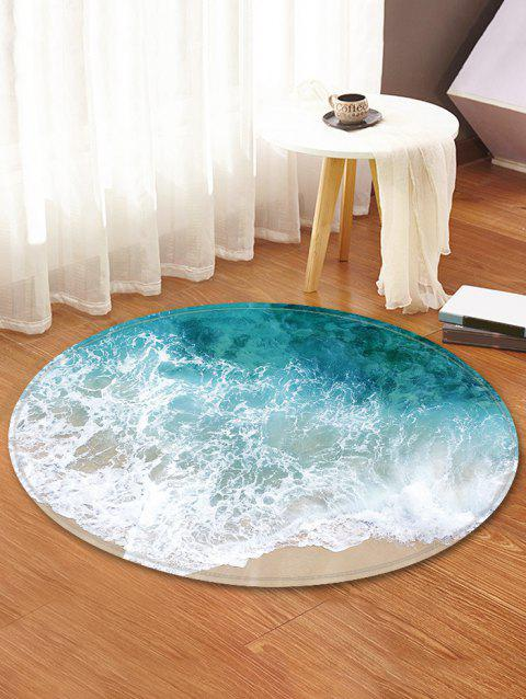 [17% OFF] 2019 Beach Wave Pattern Round Area Rug In MACAW