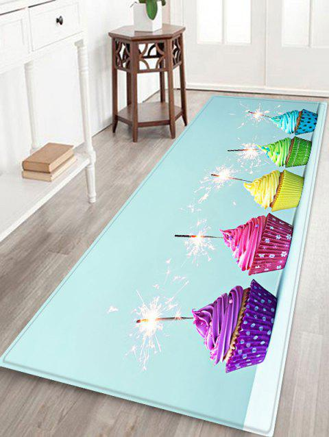 Cake Firework Pattern Anti-skid Flannel Area Rug - LIGHT SLATE W24 INCH * L71 INCH