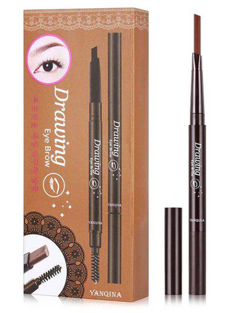 Double Ended Long Lasting Waterproof Rotate Eyebrow Pencil - COFFEE