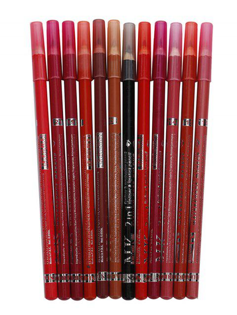 Multifunctional Waterproof Long Lasting Lip Liner Eyeliner Pencil Collection - multicolor J