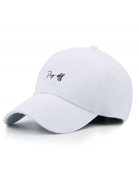 Funny Day Off Embroidery Trucker Hat - WHITE