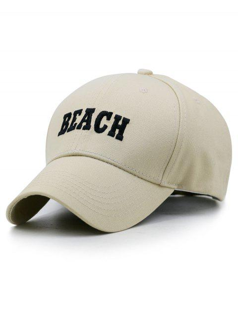 9229791cfa9 41 Off 2019 Beach Embroidery Adjule Snapback Hat In Light