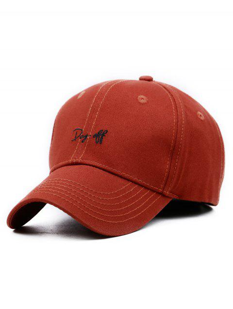 Funny Day Off Embroidery Trucker Hat - RUST