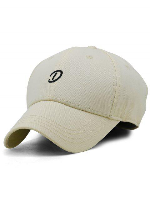 Letter D Embroidery Trucker Hat - CORN YELLOW