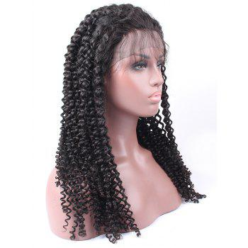 Free Part Long Curly Heat Resistant Synthetic Lace Front Wig - BLACK
