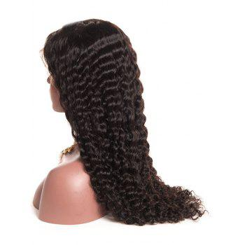 Side Parting Long Curly Lace Front Heat Resistant Synthetic Wig - BLACK