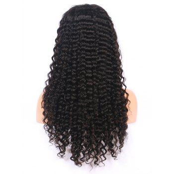 Long Free Part Curly Lace Front Heat Resistant Synthetic Wig - BLACK