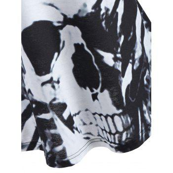 Skull Print Tunic Tank Top - BLACK S