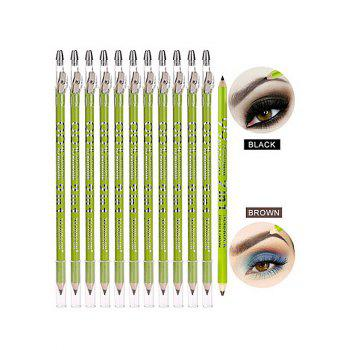 Two in One Double Ended Cosmetic Eyeliner Pencil with Sharpener - BLACK