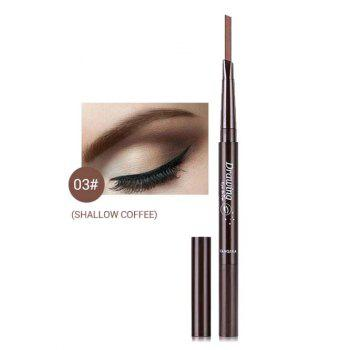 Double Ended Long Lasting Waterproof Rotate Eyebrow Pencil - LIGHT BROWN