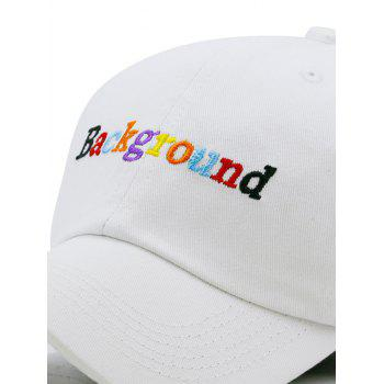Unique Background Embroidery Trucker Hat - WHITE