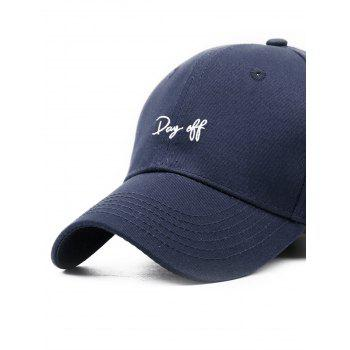 Funny Day Off Embroidery Trucker Hat - CADETBLUE