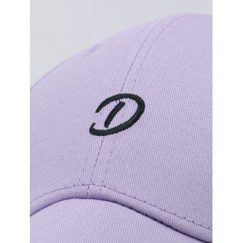 Letter D Embroidery Trucker Hat - MAUVE