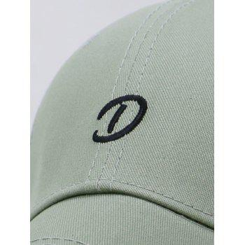 Letter D Embroidery Trucker Hat - GREEN PEAS