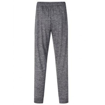 Stretchy Waist Two Pockets Sports Jogger Pants - DARK GRAY L