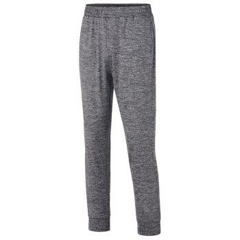 Stretchy Waist Two Pockets Sports Jogger Pants - DARK GRAY XL