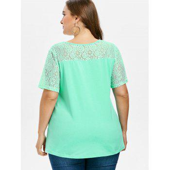 Plus Size Asymmetrical T-shirt - GREEN 4X