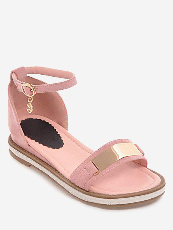 Plus Size Ankle Strap Buckled Leisure Vacation Sandals