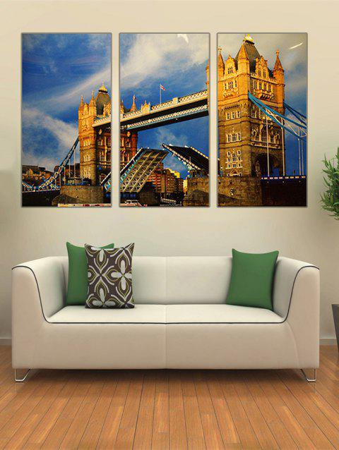 London Bridge Print Unframed Canvas Paintings - multicolor 3PC:12*18 INCH( NO FRAME )