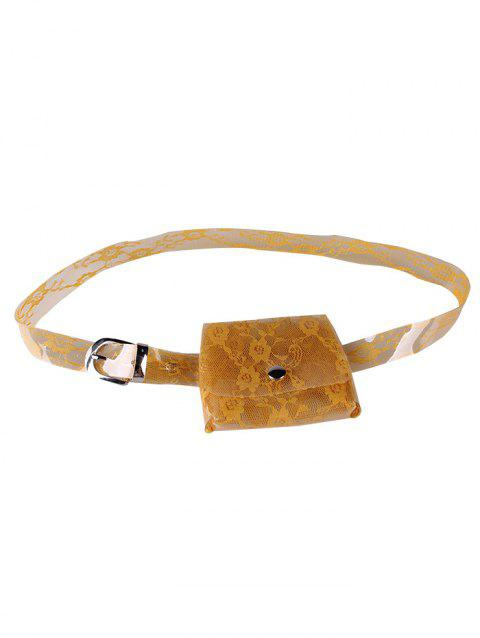 Fanny Pack Floral Transparent PVC Belt Bag - PUMPKIN ORANGE