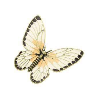 Engraved Butterflies Brooch - GOLD