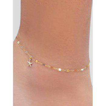Starfish Decoration Chain Anklet - GOLD
