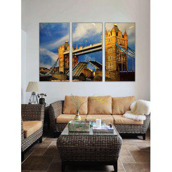 London Bridge Print Unframed Canvas Paintings - multicolor 3PC:16*24INCH(NO FRAME)