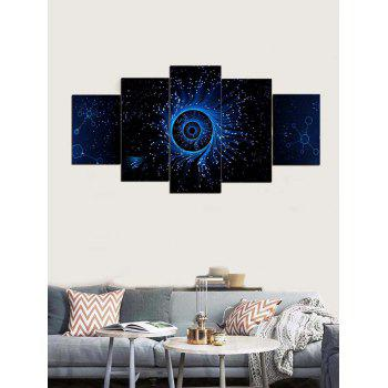Galaxy Eye Print Unframed Canvas Paintings - multicolor 1PC:12*31,2PCS:12*16,2PCS:12*24 INCH( NO FRAME )