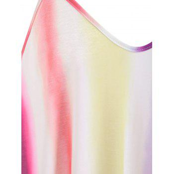 Striped Color Block Floor Length Dress - multicolor A M