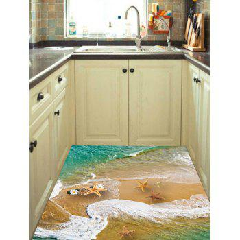 Starfish Beach Printed Removable Decor Floor Sticker - multicolor