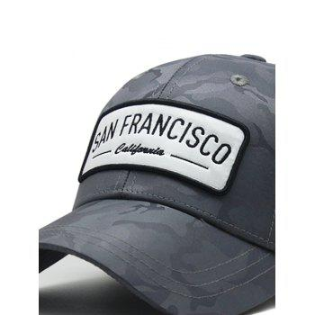 Stylish Camouflage Style Adjustable Graphic Hat - CARBON GRAY