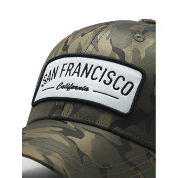 Stylish Camouflage Style Adjustable Graphic Hat - ARMY GREEN