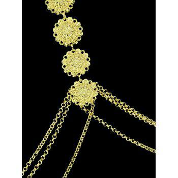 Vintage Flower Layered Body Jewelry - GOLD