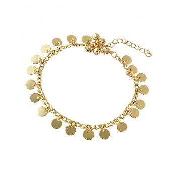Jingle Bell Disc Chain Anklet - GOLD