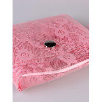 Fanny Pack Floral Transparent PVC Belt Bag - PINK