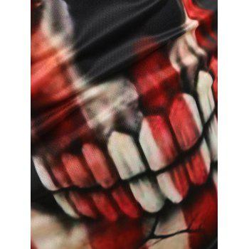 Casual Skull American Flag Print Tank Top - BLACK M
