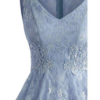 Sleeveless A Line Full Lace Dress - BLUE ANGEL XL