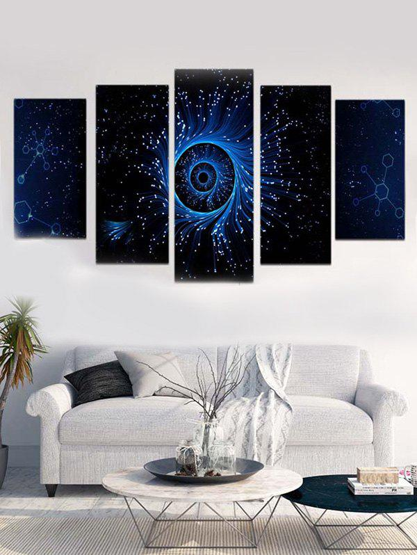 Galaxy Eye Print Unframed Canvas Paintings - multicolor 1PC:8*20,2PCS:8*12,2PCS:8*16 INCH( NO FRAME )