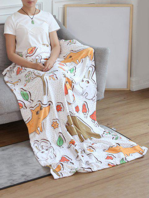 Animal Pattern Flannel Soft Bed Blanket - multicolor W31 INCH*L59 INCH