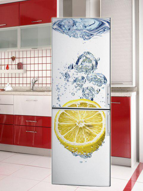 Lemon Water Printed Refrigerator Art Stickers - multicolor 1PC:24*71 INCH( NO FRAME )
